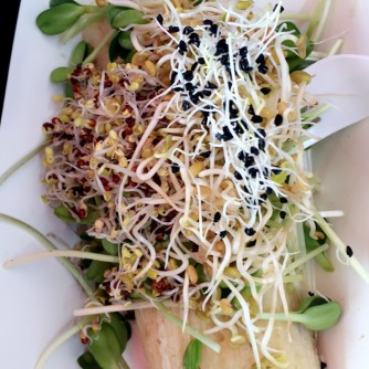 Tamale with Ojai Microgreens